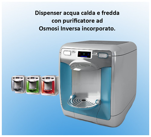 Dispenser acqua calda e fredda con purificatore ad Osmosi …  Flickr