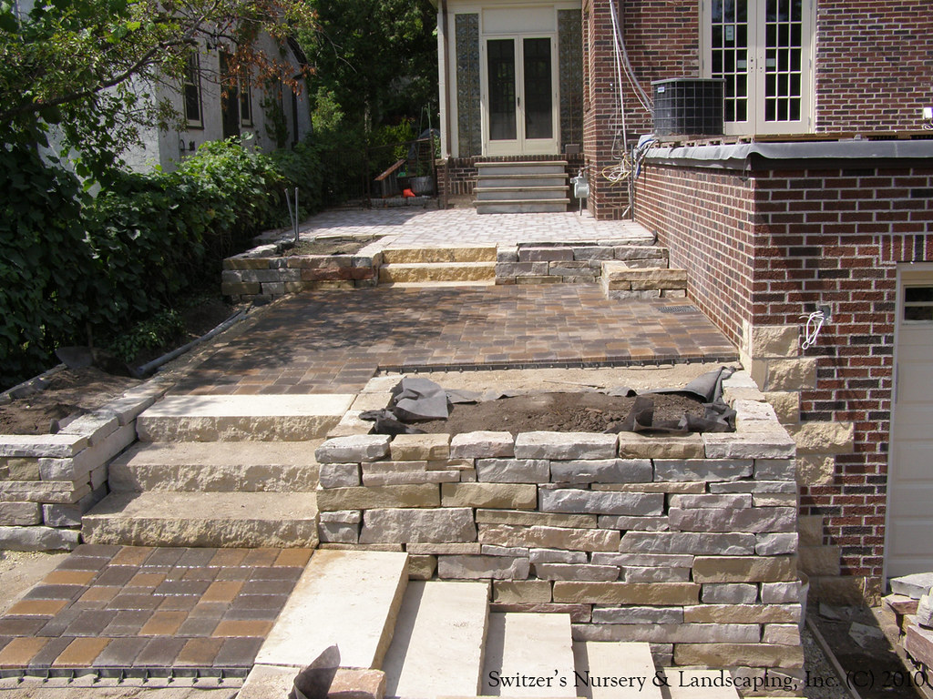 complete backyard renovation installing natural stone s u2026 flickr