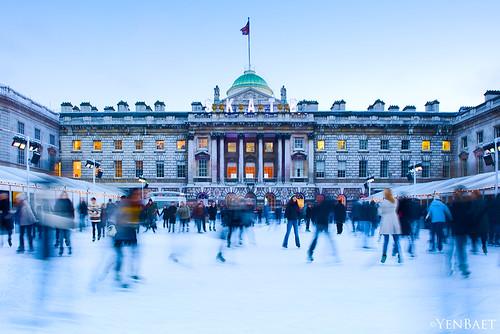London Building Strand Ice Rink