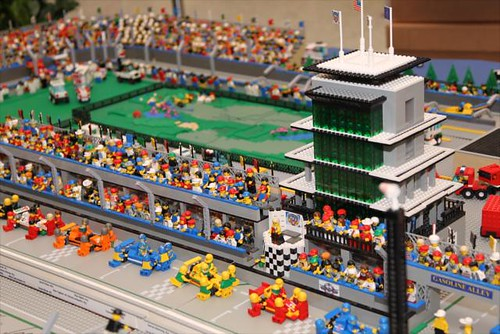 Pit lane and the pagoda lego style indianapolis for Indianapolis motor speedway com