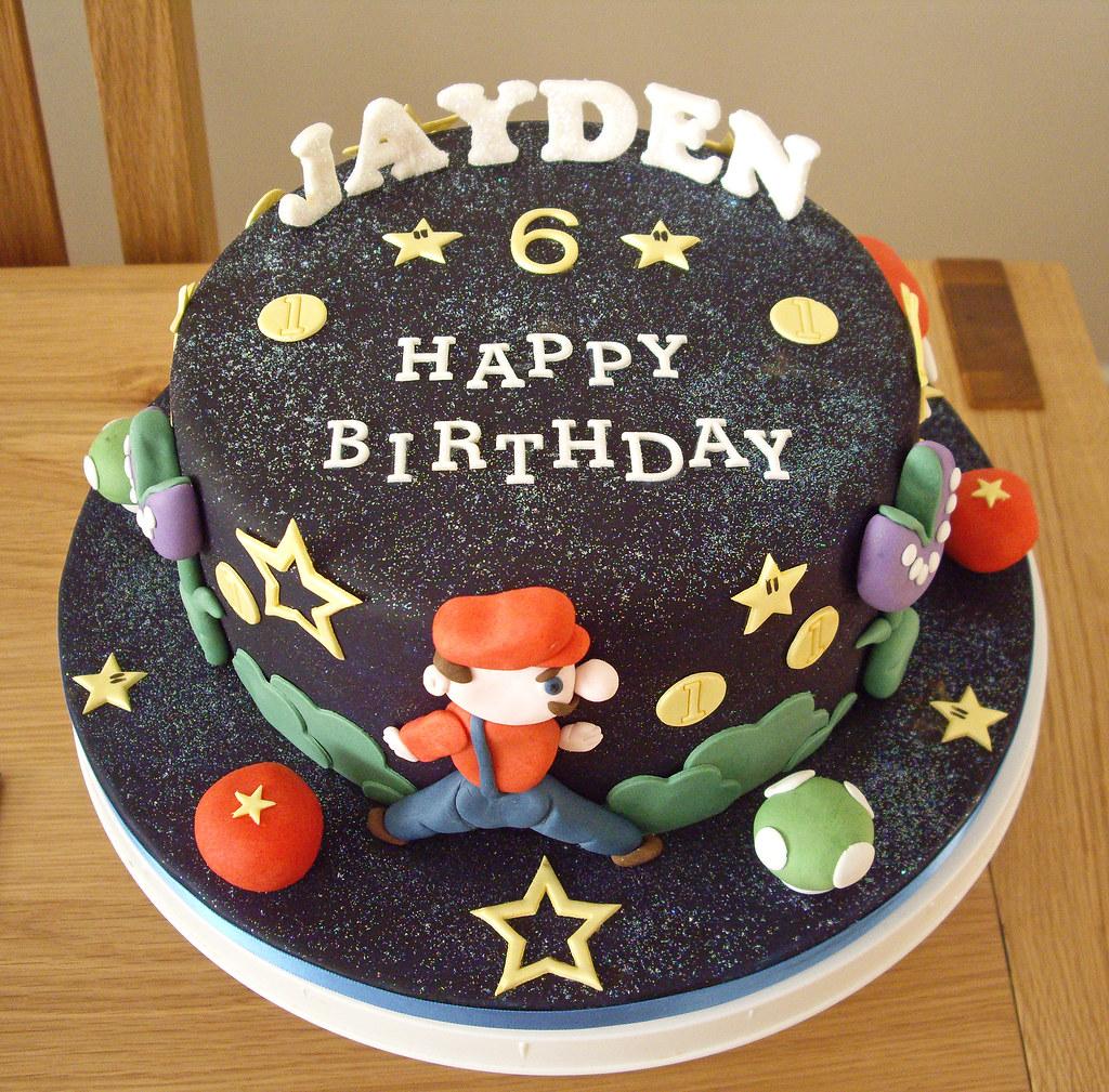 Super Mario Galaxy Cake Super Mario Galaxy Cake For Jayden Flickr