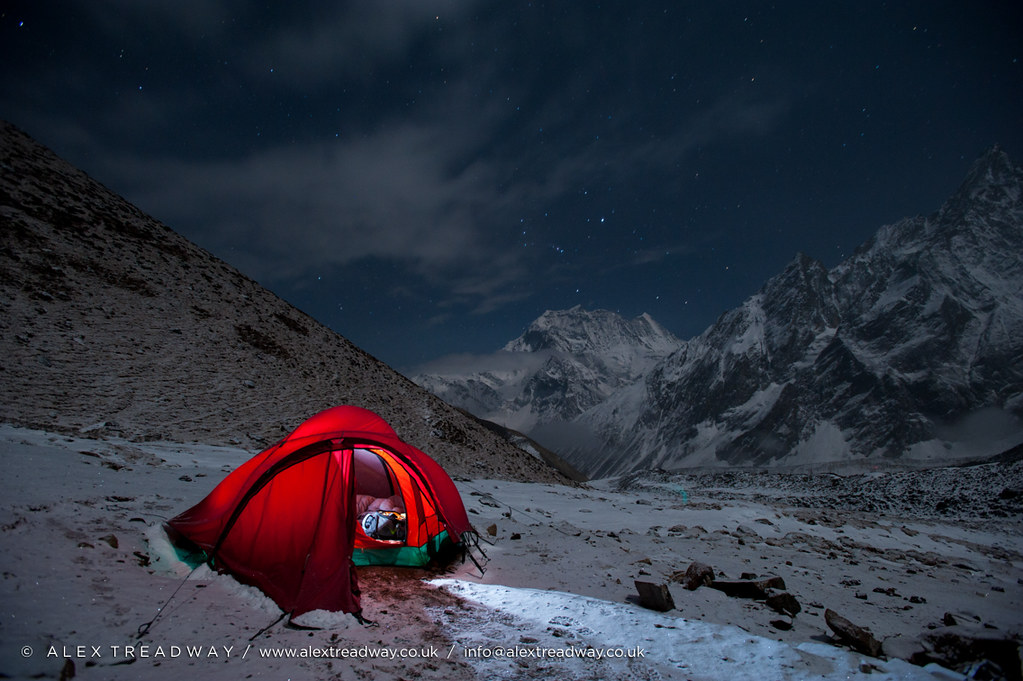 Glowing tent | by Alex Treadway Glowing tent | by Alex Treadway & Glowing tent | Camped below the Larke La pass in the Manasluu2026 | Flickr