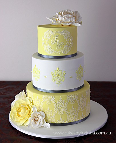 Damask Wedding Cake | by Temeraire
