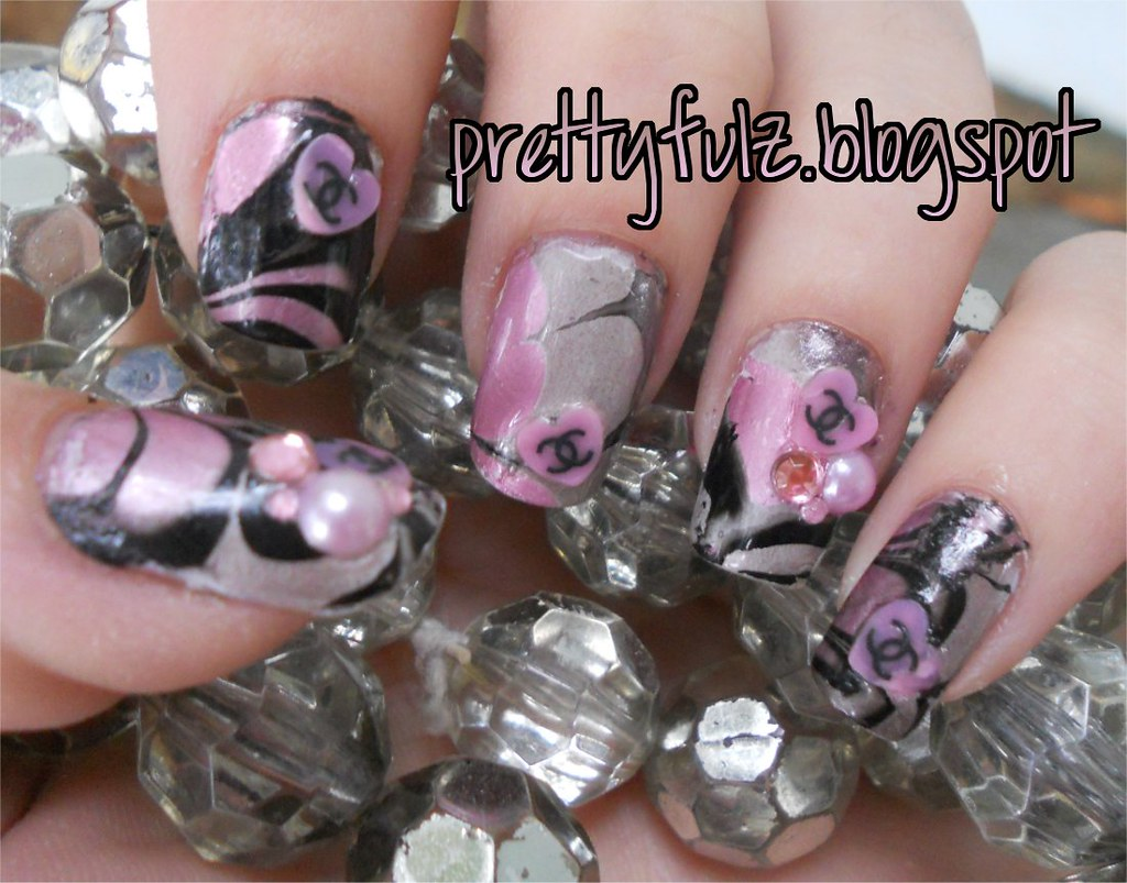 Chanel Nail Art Design All Products Used Are Listed On My Flickr