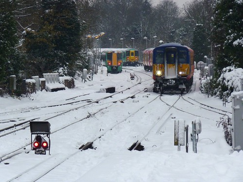 Epsom trains in the snow | by Deepgreen2009
