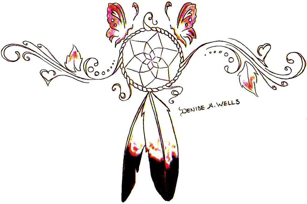 Dreamcatcher tattoo design by denise a wells dreamcatcher flickr dreamcatcher tattoo design by denise a wells by denise a wells pronofoot35fo Choice Image