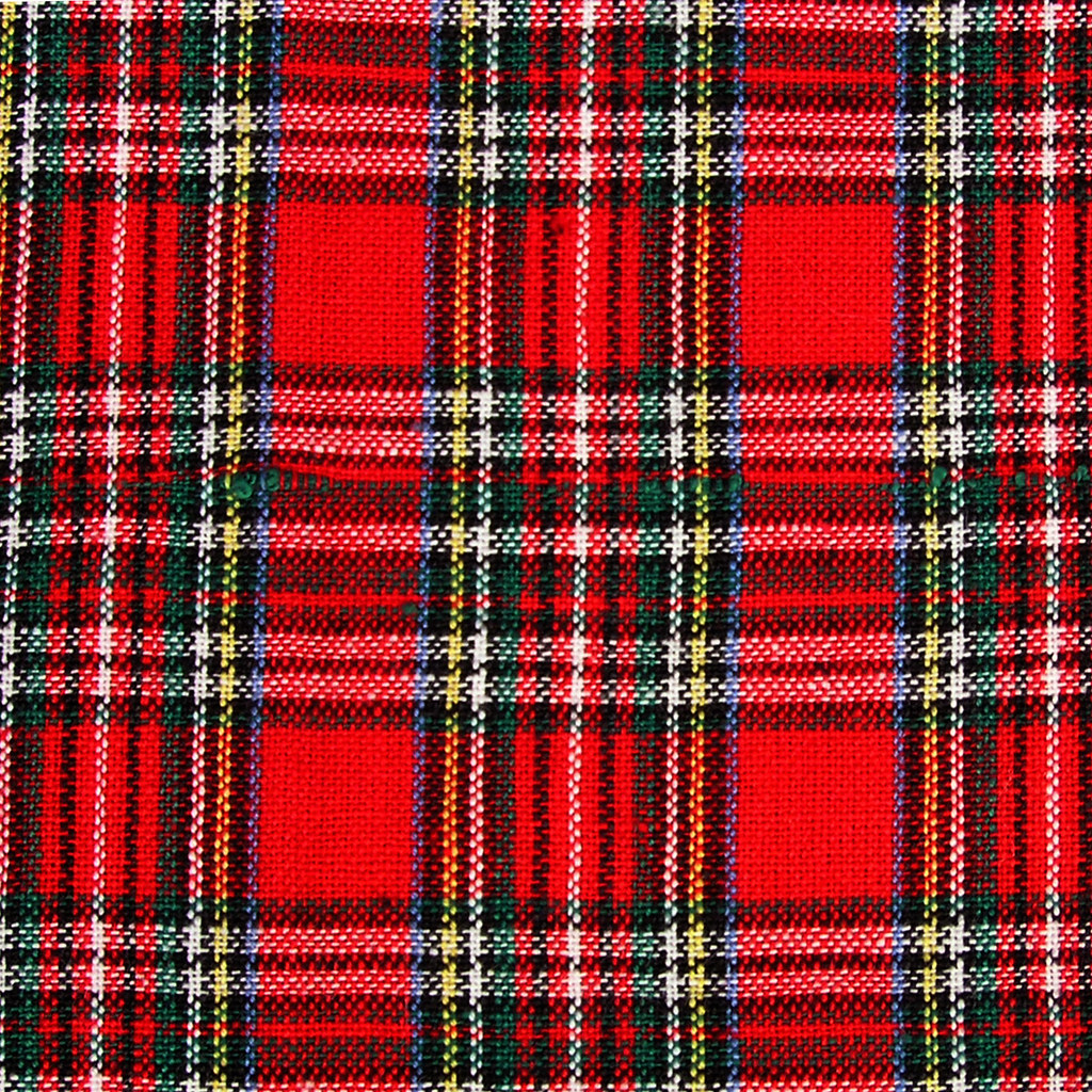 red plaid by whiskerkisses red plaid by whiskerkisses - Christmas Plaid Fabric