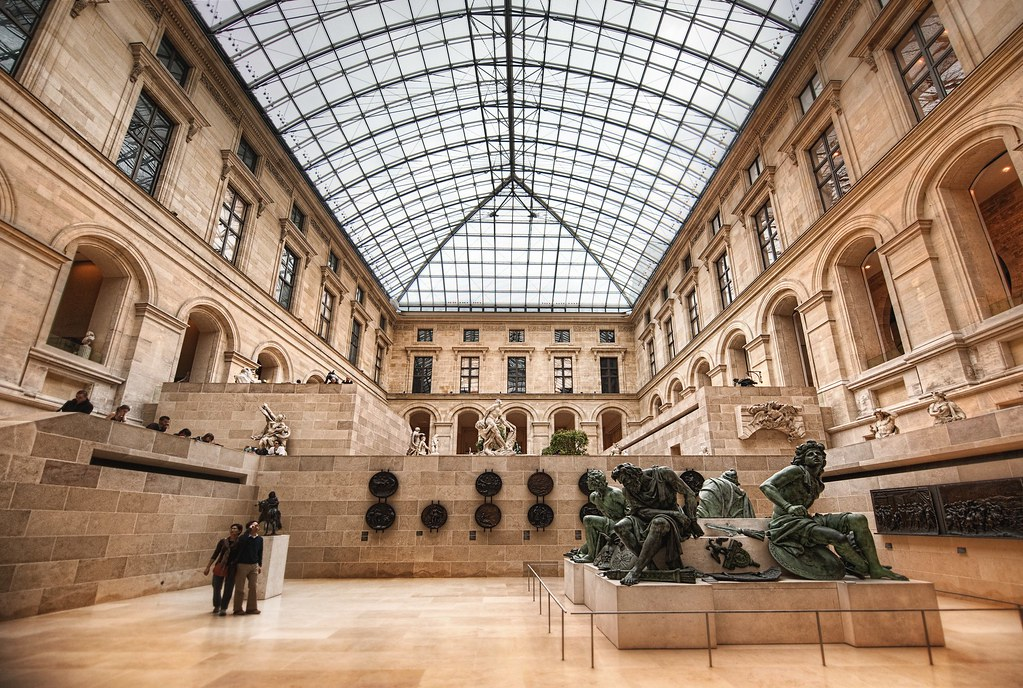 Inside the Louvre | This was taken with the D3S -- a 3-expos… | Flickr