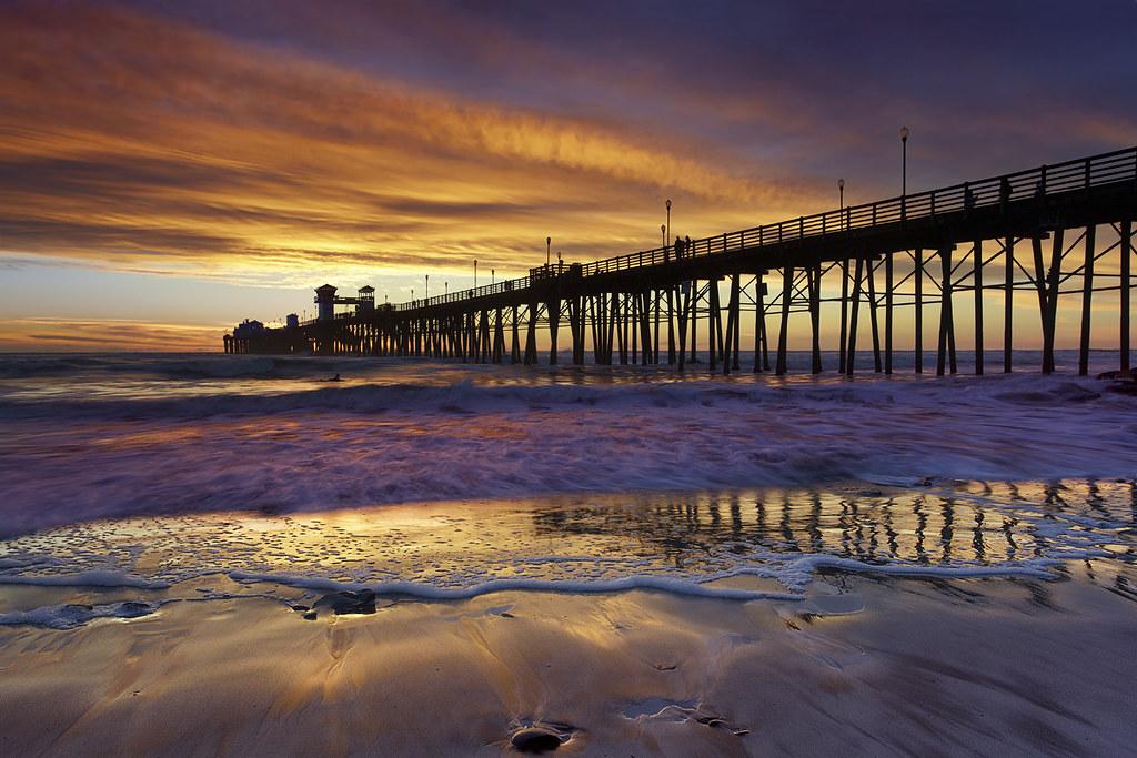 oceanside surf oceanside pier california a lone surfer flickr