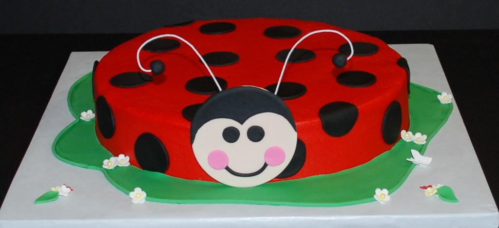 Ladybug Birthday Cake Ladybug Cake For A 2nd Birthday 10 Flickr