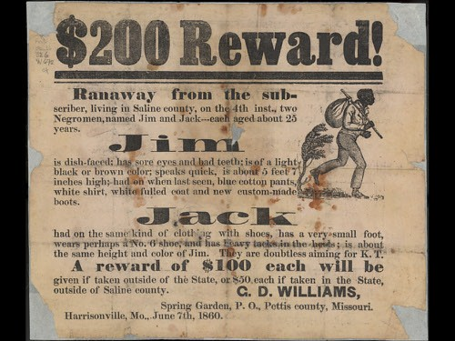 runaway slaves reward flyer a flyer advertises a 200 rewa flickr