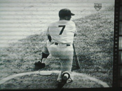 Mickey Mantle on Deck during game 7 of the 1960 World Series | by zzazazz
