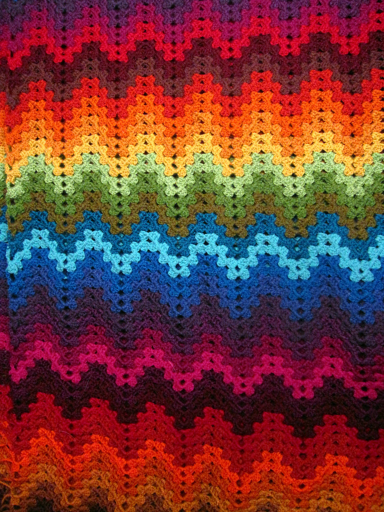 Granny Ripple Afghan The Pattern Is Found On Project Linus