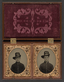[Two unidentified soldiers in Union uniforms with Hardee hats bearing infantry insignia] (LOC) | by The Library of Congress