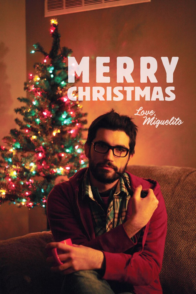 single mans christmas card by miguel draws