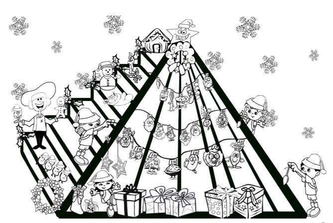 Kids Holiday Coloring Page Nutrition FUN Food Pyramid Hol Flickr
