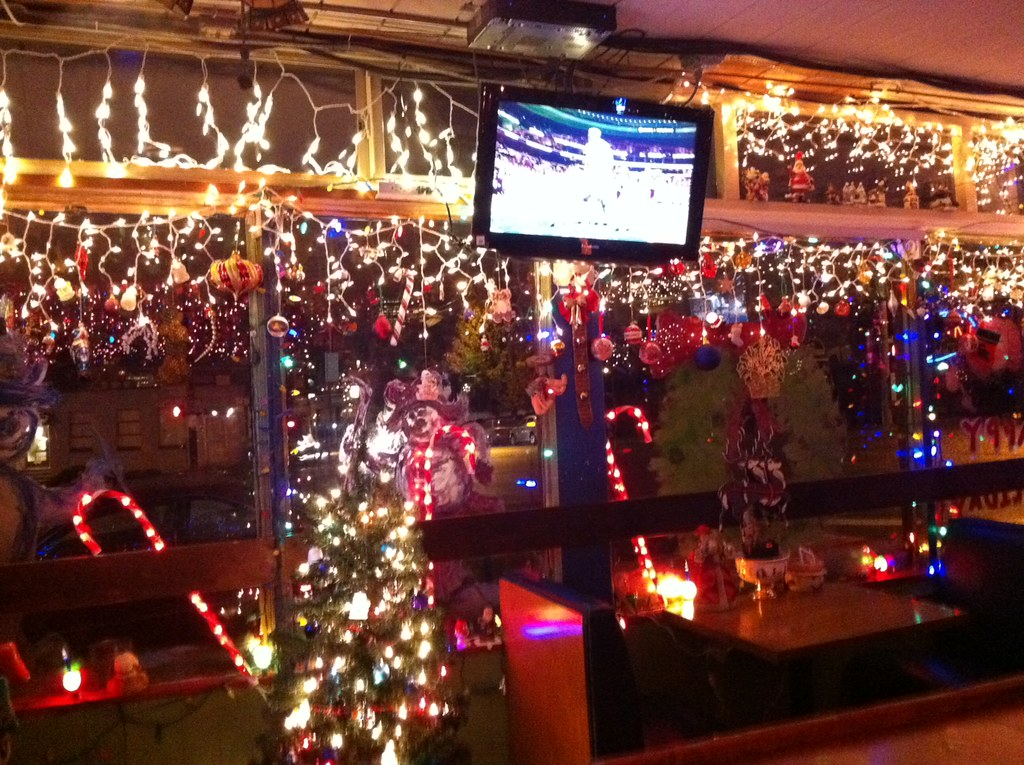portland christmas lights slammer bar by pdx pipeline