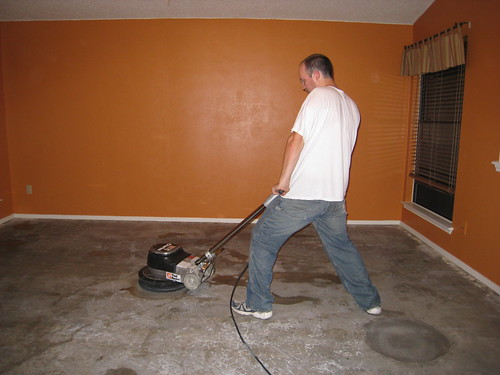 Img 4670 buffing the floor carl knutson flickr for Buffing stained concrete floors