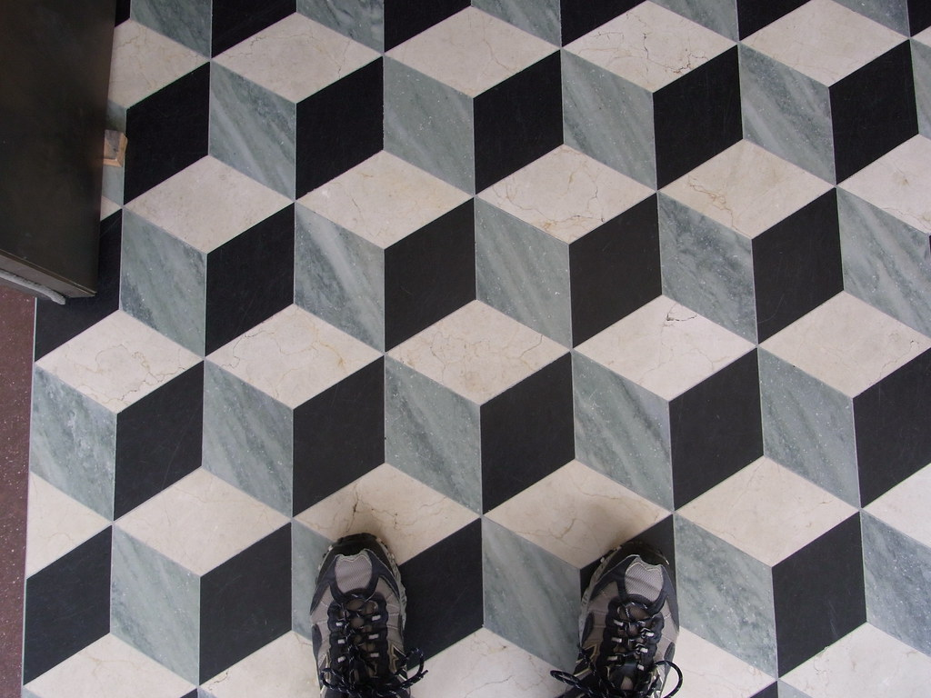 Long before there was Escher - Marble tile floor - Getty V… | Flickr