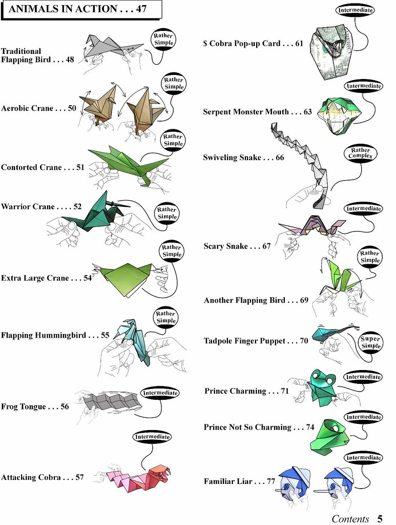 Contents Pp 47 79 Contents Of My New Book Origami Ooh Flickr