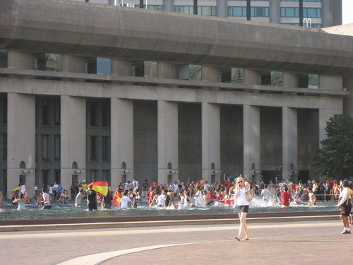 World Cup celebration in the Christian Science Church Fountain 1 | by gotgenes