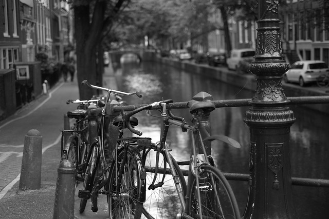 Bike at canal in Amsterdam 38