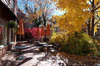 Autumnal Cafe Courtyard | by Zane Selvans