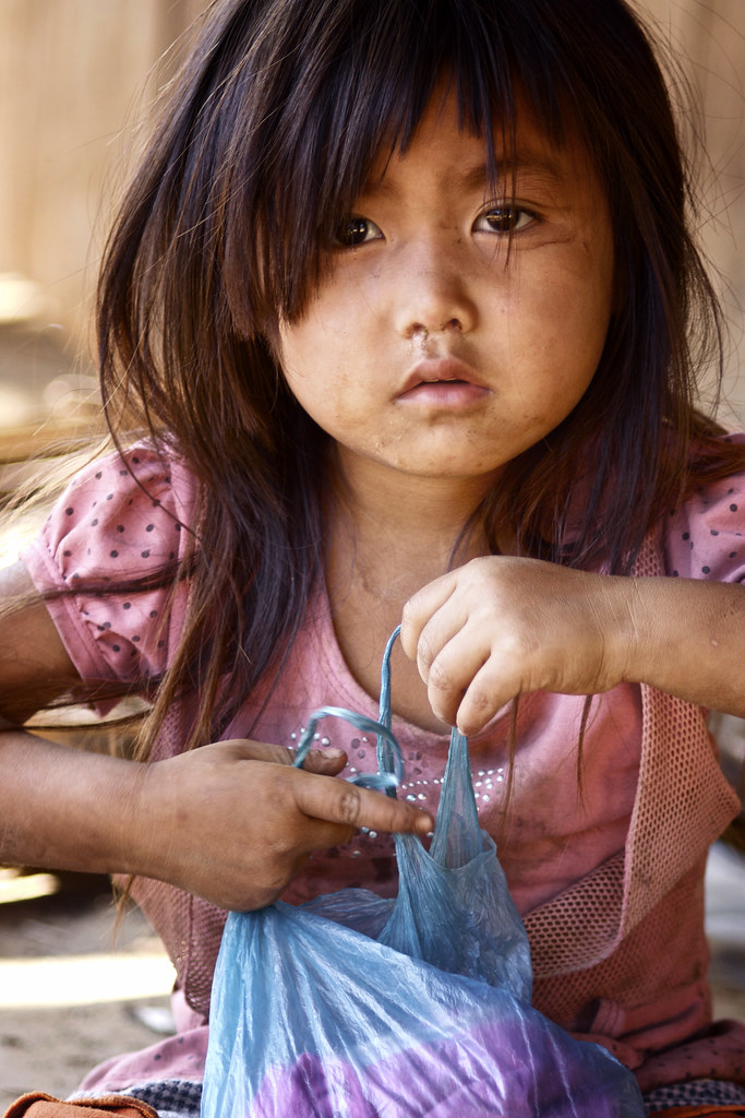 Portrait Of A Hmong Child