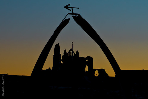 Silhouette of Whitby Abbey | by Dave_01 (Dave Edwards)