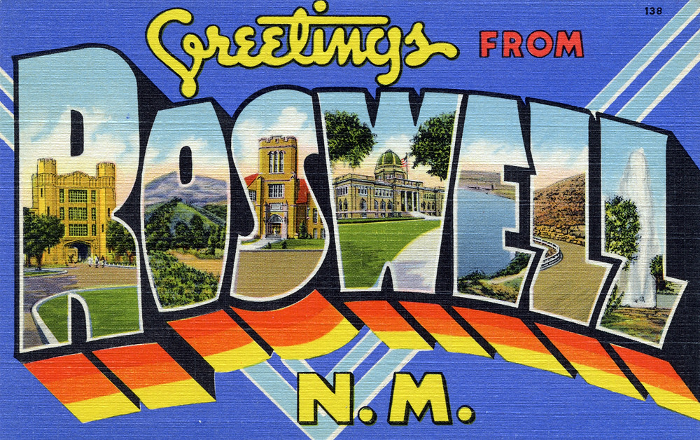 Excellent Greetings from Roswell, New Mexico - Large Letter Postcard… | Flickr DB29