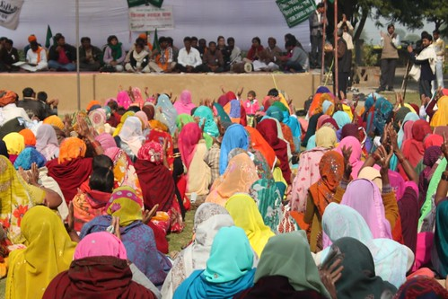 hundreds of women turn out in a colorful meeting | by Yatra-kisanswarajyatra