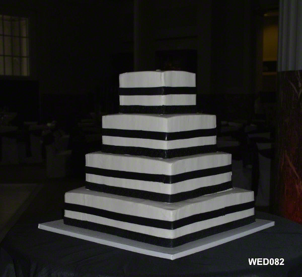 Wed082 Black And White Striped Wedding Cake Www 3brothersb Flickr