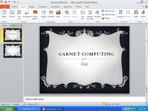 Powerpoint 2010 slide design editing - 95.9KB