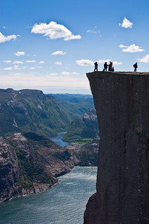 Base Jumping at Preikestolen | by Jim Boud