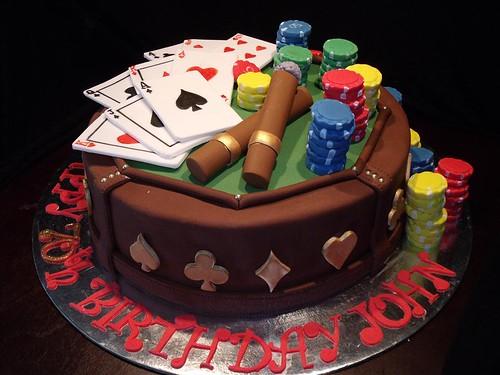 Poker Themed Cake in 2019 - Poker cake, Casino cakes ...