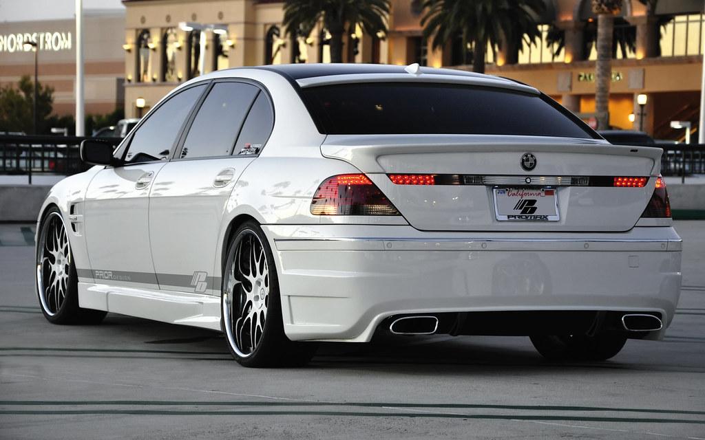 BMW 7 Series E65 E66 White 745LI Full Prior Design Kit And 22 Wheels