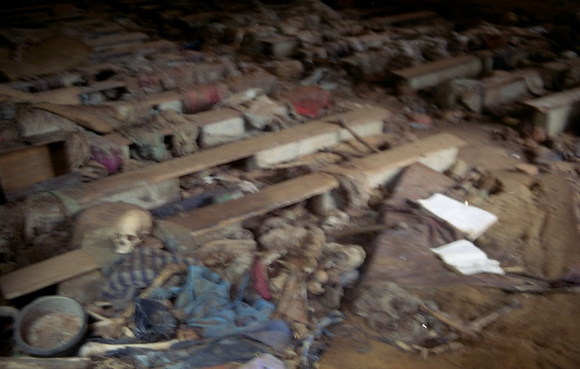 rwanda nrarama church genocide 1 graphic image out focus flickr