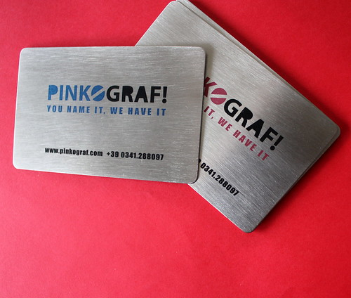 metal steel business cards | by Pinkograf by Pinkard