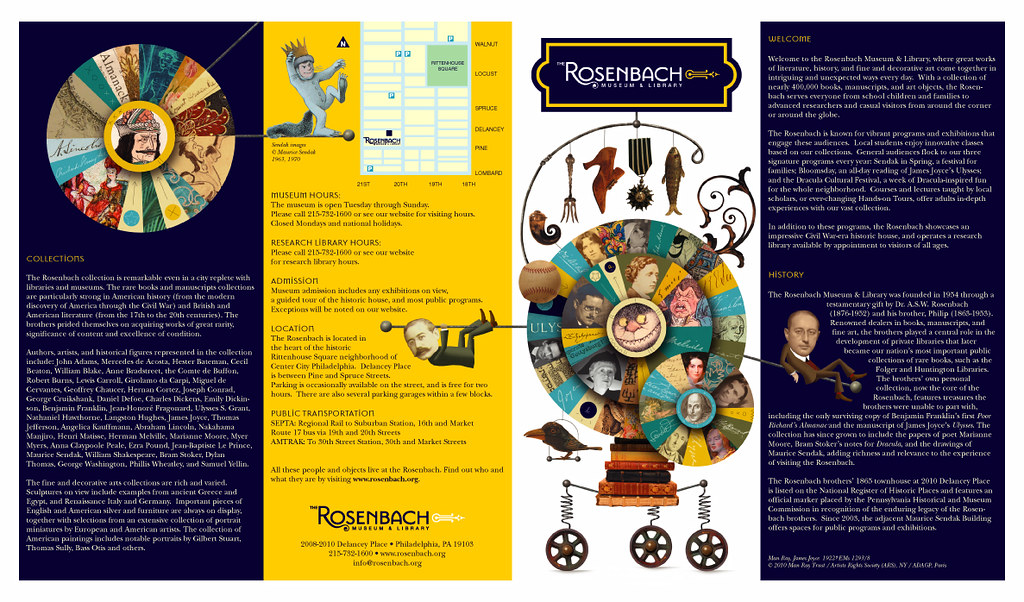 Rosenbach Museum Brochure Outside | Brochure illos & design … | Flickr