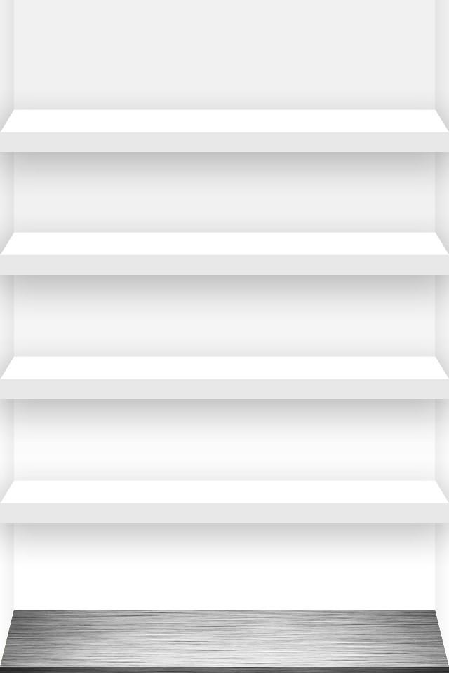 4 Shelf Iphone Wallpaper White
