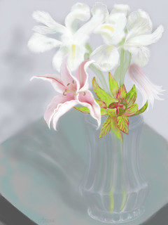 iPad drawing 74/365 - Iris & Lilies | by Alison Jardine