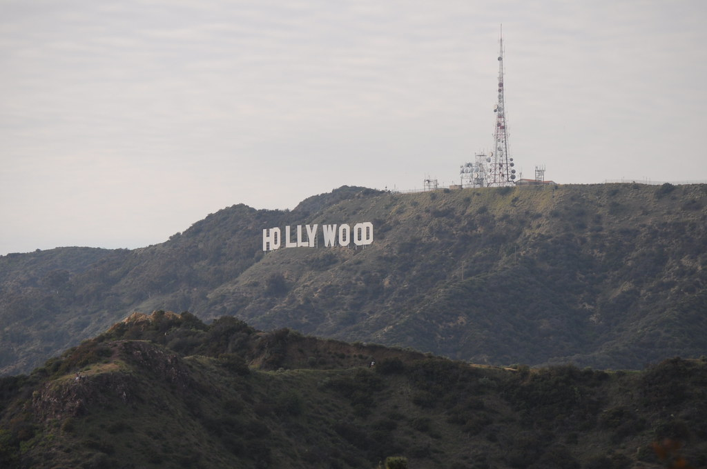 Hollywood sign from near Griffith Observatory - raw
