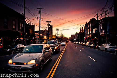 Sunsets on Filmore street in San Francisco | by tibchris