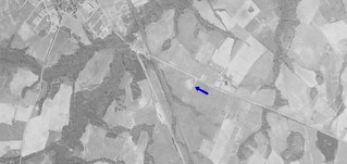 Waynesboro Drive-In aerial photo 1950 | by OzonerGPS