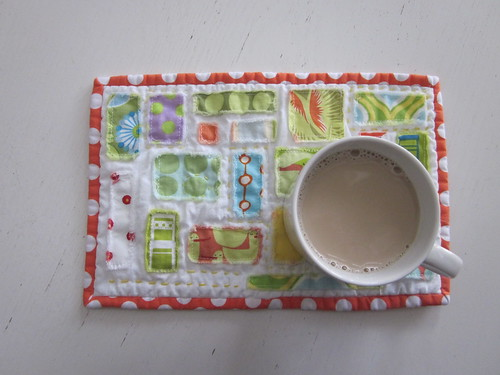 Ticker tape mug rug | by s.o.t.a.k handmade