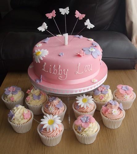 1st Birthday Cake And Cupcakes Debbie Scott Flickr