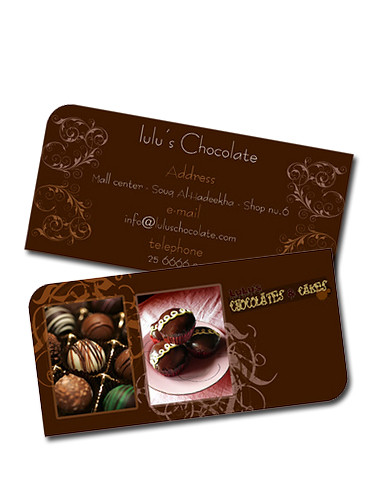 Lulu chocolate business card flickr lulu chocolate business card by q8colors colourmoves