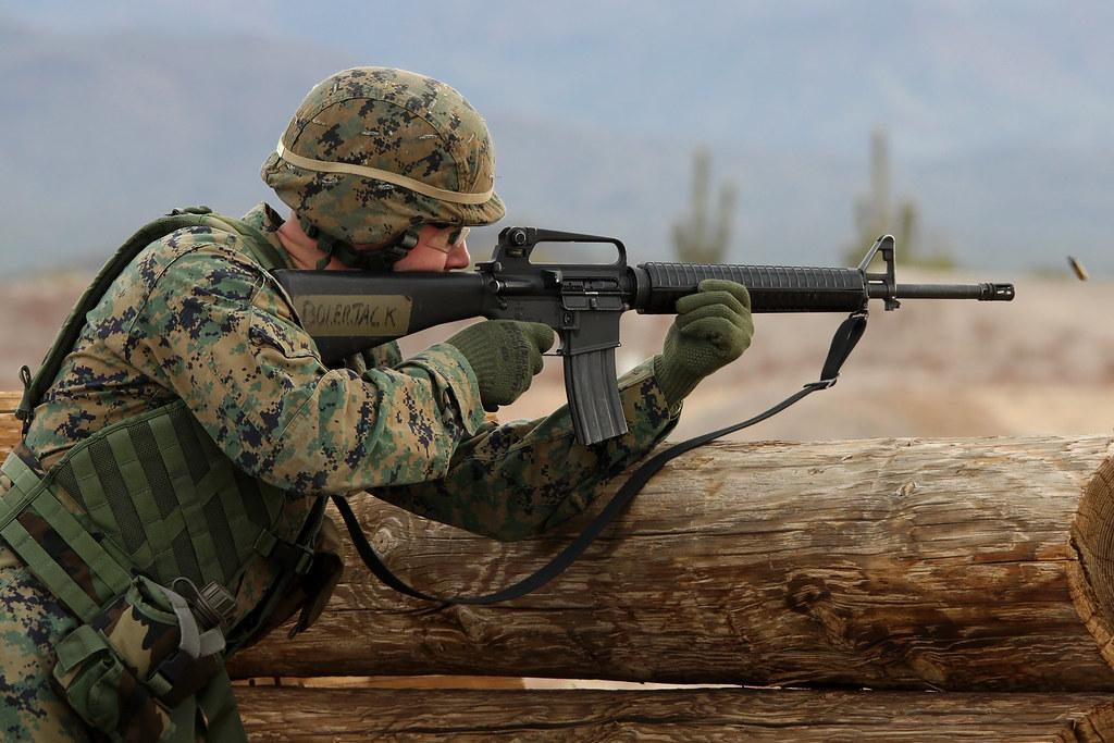 Every Marine a Rifleman... | A Marine Reservist knocks down … | Flickr
