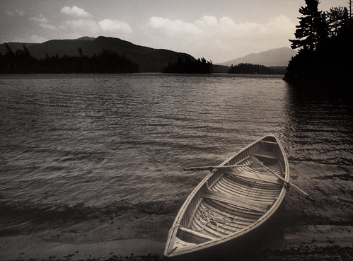 Canoe in the Adirondacks