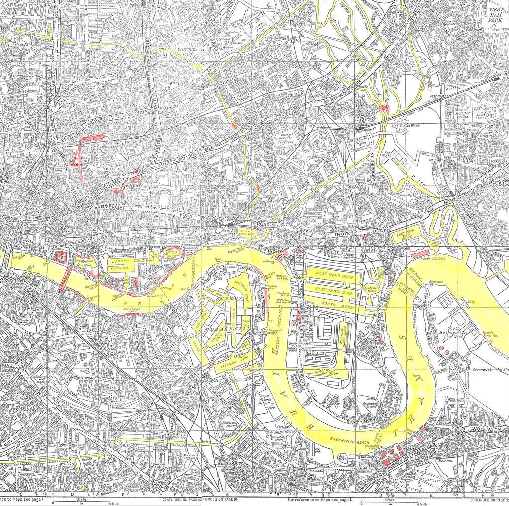 old london docklands mid 1960s a z street map by jb photographer